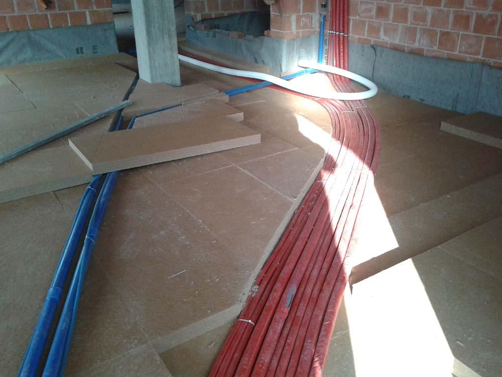 Fibra di legno per massetti a secco