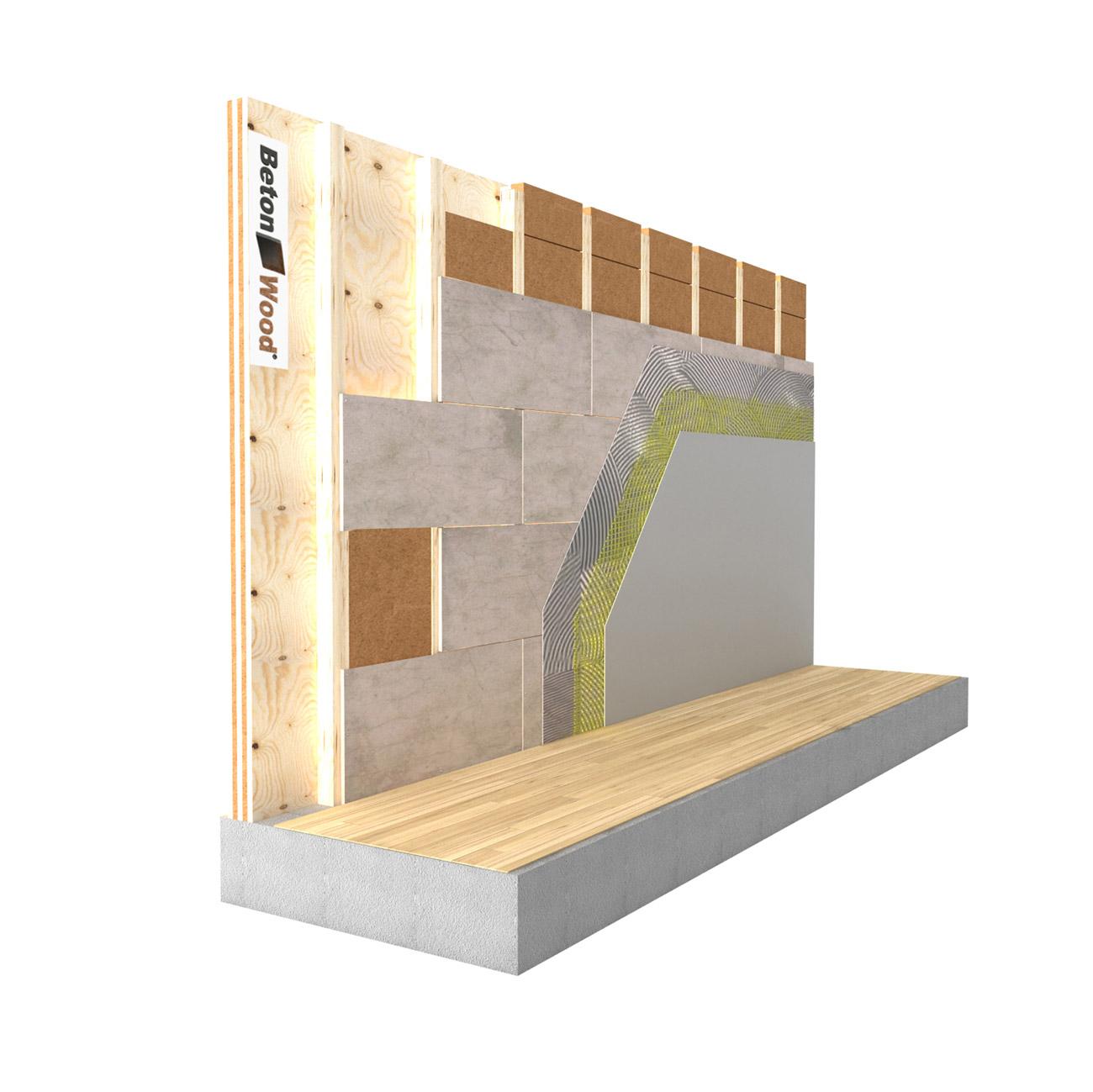 Fibra di legno per cappotto termico interno - Parete interna in legno ...