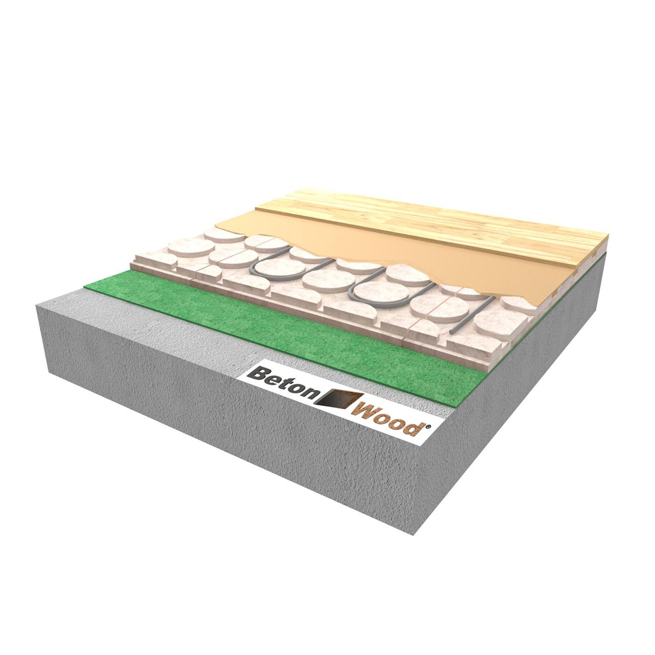 Massetto Per Pavimento Riscaldato fibra di legno per massetti a secco